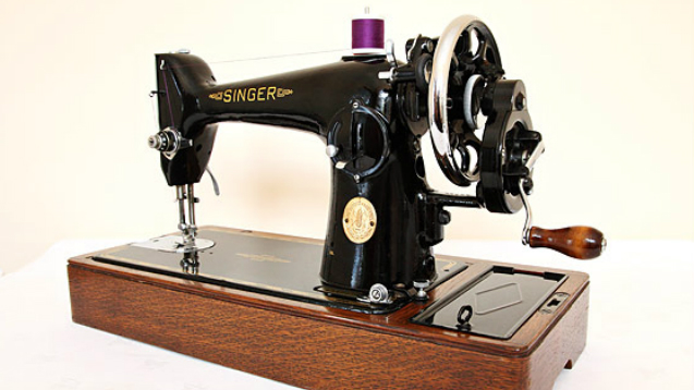 A sewing machine is a machine used to stitch fabric and other materials together with thread Sewing machines were invented during the first Industrial Revolution to