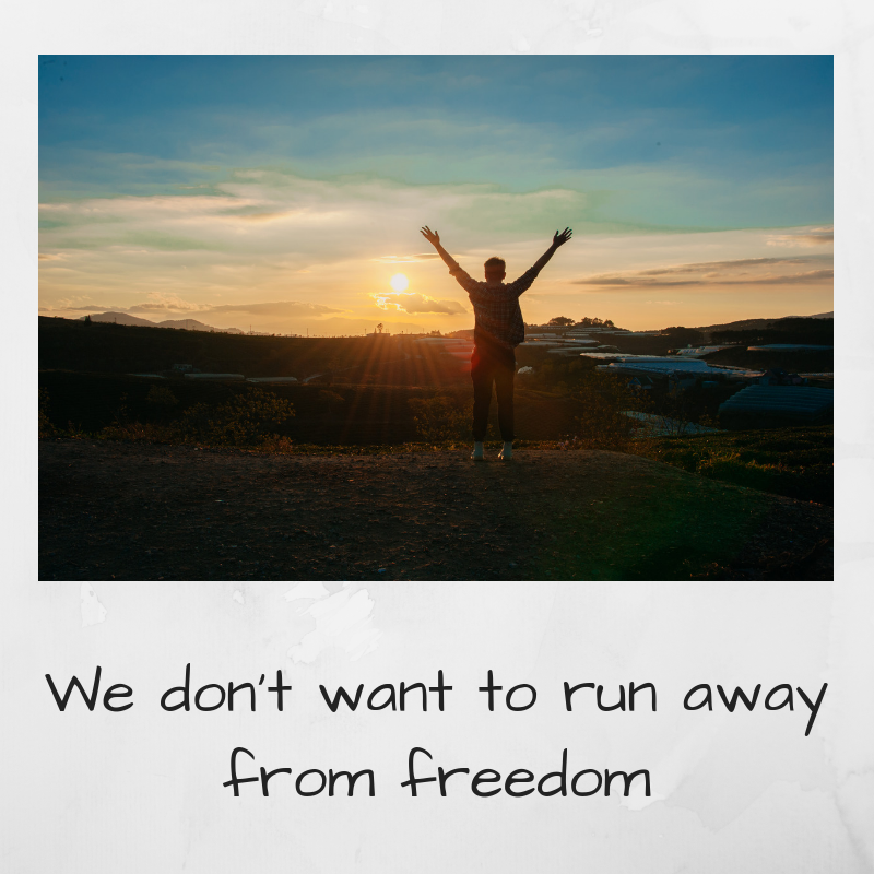 Add heaWe dont want to run away from freedomding1